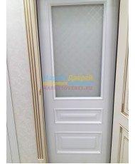 Фото установленной Дверь Дэмфа Блюз Белый ДО