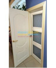 Фото установленной Дверь Дэмфа Вектор Белый ДГ