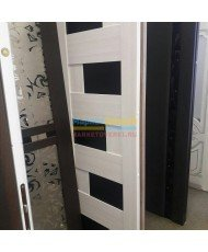 Фото установленной Дверь ВФД Атум Х7 Серый дуб сатинат