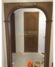 Фото установленной Дверь ВФД Лайн 2 Л2ПГ4 Венге Стекло черное