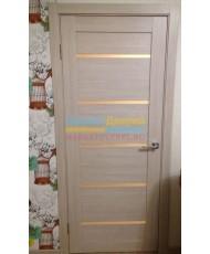 Фото установленной Дверь ВФД Лайн 2 Л2ПГ4 Венге Стекло белое