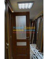 Фото установленной Дверь Белоруссии Анкона Венге ДО