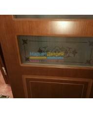 Фото установленной Дверь Матадор Арго беленый дуб ДО