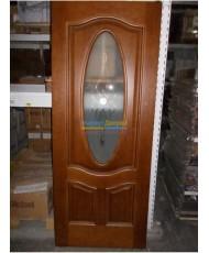 Фото установленной Дверь Мильяна Qdo X Дуб палисандр Стекло бронза