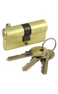 Механизм цилиндровый с английским ключом V60-5 SB Матовый золото
