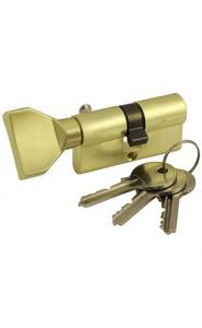Механизм цилиндровый с английским ключом VC60-5 SB Матовый золото