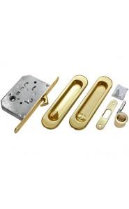 Комплект - ручки, сантехническая защелка MHS150 WC SG Матовое Золото