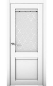 Дверь межкомнатная Cobalt 12 Белый, со стеклом