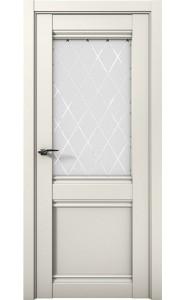 Дверь межкомнатная Cobalt 12 Слоновая кость, со стеклом