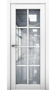 Дверь межкомнатная Cobalt 22 Белый, со стеклом