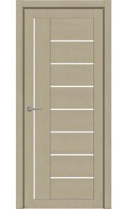Дверь межкомнатная Light 2110 SoftTouch Кремовый Soft touch, со стеклом