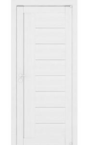 Дверь межкомнатная LIGHT 2110 Белый велюр, со стеклом