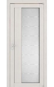 Дверь межкомнатная LIGHT 2112 Капучино велюр, со стеклом