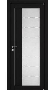 Дверь межкомнатная LIGHT 2112 Шоко велюр, со стеклом