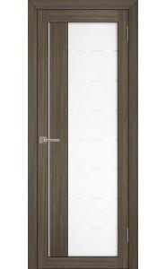 Дверь межкомнатная LIGHT 2112 Велюр графит, со стеклом