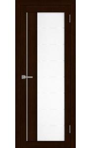 Дверь межкомнатная LIGHT 2112 Дуб шоколадный, со стеклом