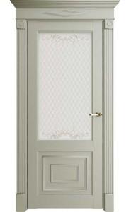 Дверь межкомнатная Florence 62002 Светло-серый Серена, со стеклом