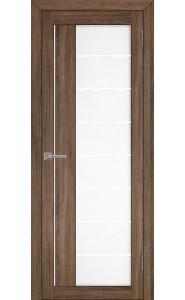 Дверь межкомнатная LIGHT 2112 Серый велюр, со стеклом