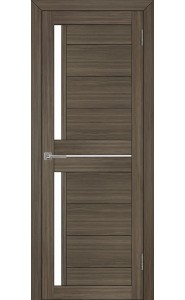 Дверь межкомнатная LIGHT 2121 Велюр графит, со стеклом