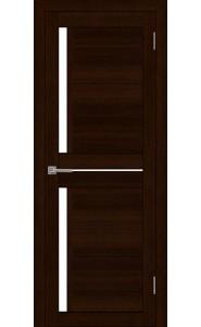 Дверь межкомнатная LIGHT 2121 Дуб шоколадный, со стеклом
