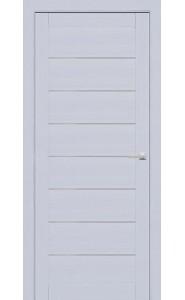 Дверь межкомнатная 225 Серый шелк (Ral 7047), со стеклом