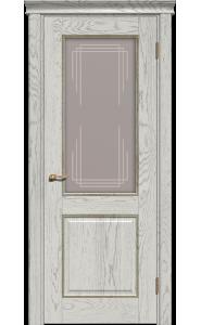 Дверь Прайм капучино, со стеклом