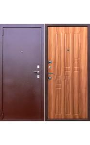 Дверь мет. Гарда 8мм. Дуб рустикальный, со стеклом
