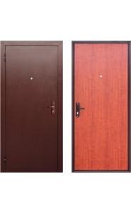 Дверь мет. Стройгост 5 РФ Дуб рустикальный, со стеклом