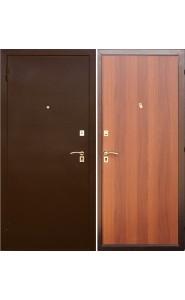 Дверь мет. SD Prof-2 Стандарт Итальянский орех, со стеклом