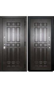 Дверь мет. SD Prof-5 Сенатор Венге, со стеклом