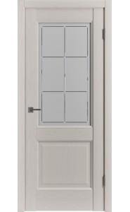 Межкомнатная дверь Classic Trend 2, со стеклом, цвет Fleet Soft