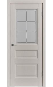 Межкомнатная дверь Classic Trend 3, со стеклом, цвет Fleet Soft