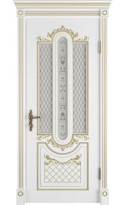 Межкомнатная дверь Alexandria, со стеклом, цвет Polar PG