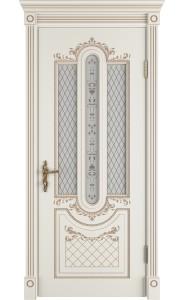 Межкомнатная дверь Alexandria, со стеклом, цвет Ivory PC