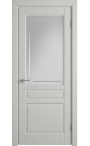 Межкомнатная дверь Stockholm, со стеклом, цвет Cotton